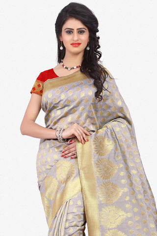 Designer Saree:atisundar wonderful Designer Party Wear Saree in Grey  - 12793