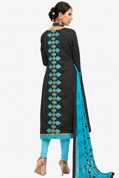 Designer Straight Cut:atisundar graceful Black Designer Party Wear Embroidered Straight Cut  - 12622 - click to zoom