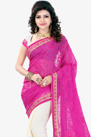 Designer Saree:atisundar elegant Designer Party Wear Saree in Pink  - 12795