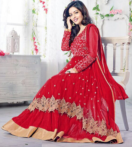 The Riya Sen Collection:atisundar appealing Red Anarkali - 7857 - atisundar - 2