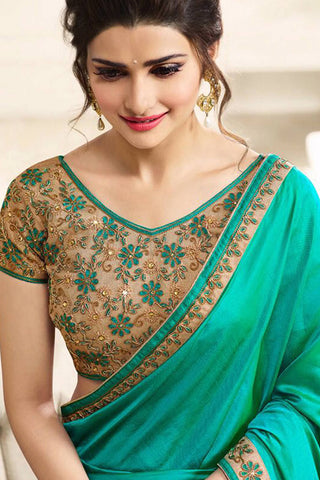 Designer Saree:atisundar beauteous Designer Party Wear Saree in Green  - 13030