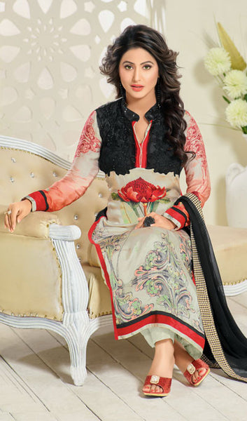 The Heena Khan Collection:atisundar radiant Off White And Black Designer Prints  with Embroidery  - 9781 - atisundar - 3 - click to zoom