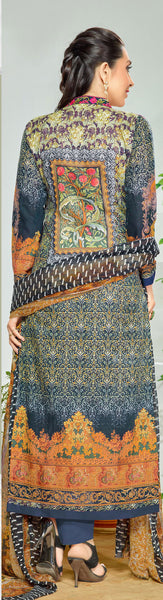 The Karishma Kapoor Collection:atisundar splendid Blue And Beige Designer Straight Cut  - 9965 - atisundar - 2 - click to zoom