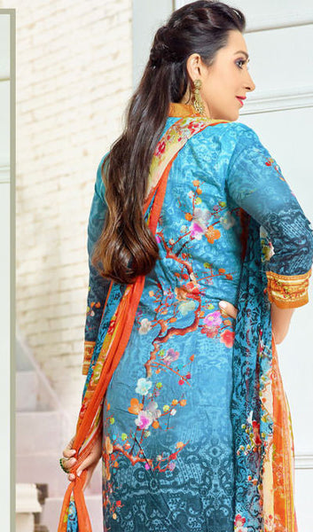 The Karishma Kapoor Collection:atisundar appealing Sky Blue Designer Straight Cut  - 9969 - atisundar - 3 - click to zoom