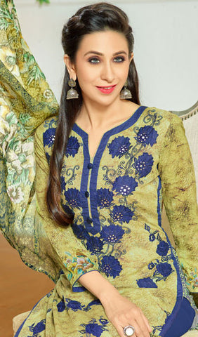 The Karishma Kapoor Collection:atisundar fair Green And Blue Designer Straight Cut  - 9971 - atisundar - 4