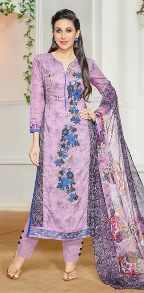 The Karishma Kapoor Collection:atisundar fair Purple Designer Straight Cut  - 9972 - atisundar - 2 - click to zoom