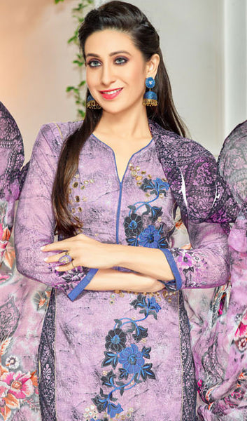 The Karishma Kapoor Collection:atisundar fair Purple Designer Straight Cut  - 9972 - atisundar - 4 - click to zoom