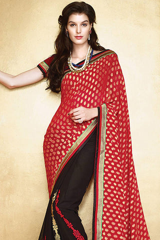 Designer Saree:atisundar divine Designer Party Wear Saree in Red  - 12780