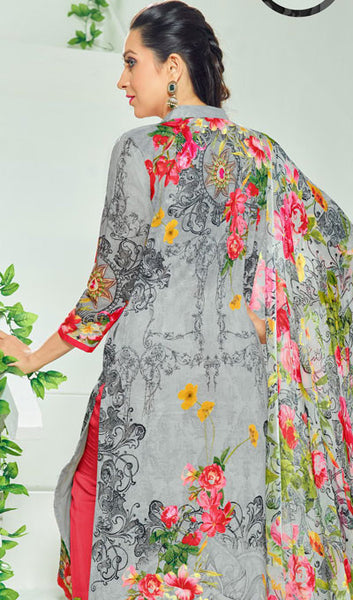 The Karishma Kapoor Collection:atisundar exquisite Grey Pure Lawn Cotton Designer Suits Featuring Karishma Kapoor - 10168 - atisundar - 2 - click to zoom