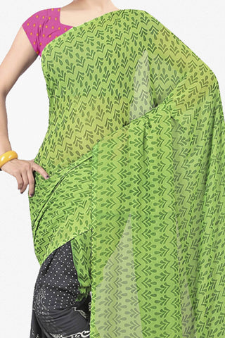 Designer Saree:atisundar Great Designer Saree in Faux Georgette in Green  - 11650 - atisundar - 2