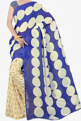 Designer Saree:atisundar dazzling Designer Saree in Faux Georgette in Blue  - 11651 - atisundar - 1 - click to zoom