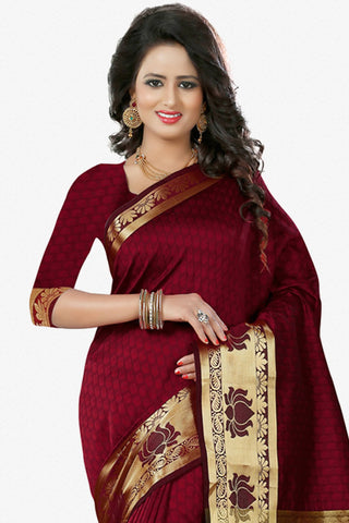 Designer Saree:atisundar delightful Designer Party Wear Saree in Maroon  - 12784