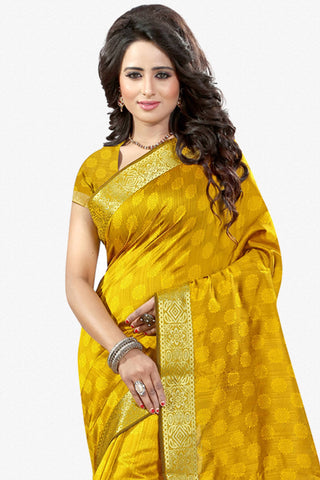 Designer Saree:atisundar splendid Designer Party Wear Saree in Yellow  - 12785