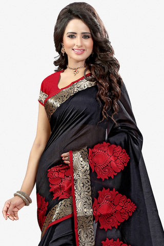 Designer Saree:atisundar refined Designer Party Wear Saree in Black  - 12786