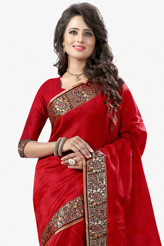 Designer Saree:atisundar Awesome Designer Party Wear Saree in Red  - 12787