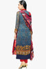 Atisundar bewitching  Blue Embroidery on Printed Faux Georgette - 10464 - atisundar - 3 - click to zoom