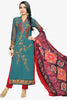 Atisundar bewitching  Blue Embroidery on Printed Faux Georgette - 10464 - atisundar - 1 - click to zoom