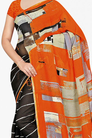 Designer Saree:atisundar radiant Designer Saree in Faux Georgette in Orange  - 11652 - atisundar - 2