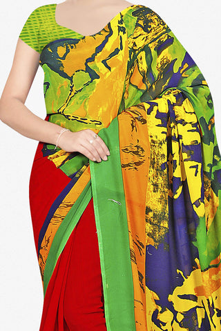 Designer Saree:atisundar appealing Designer Saree in Faux Georgette in Multi  - 11653 - atisundar - 2