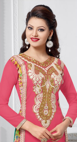 The Urvashi Rautela Collection:atisundar refined Pink Designer Straight Cut  - 6738 - atisundar - 4