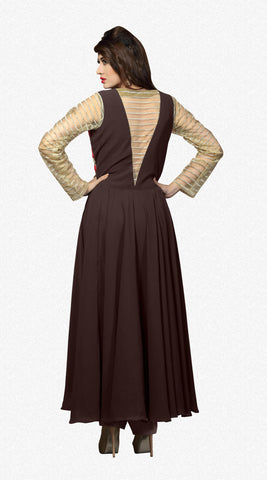 Designer Straight Cut:atisundar superb Brown And Beige Designer Straight Cut  - 8627 - atisundar - 3