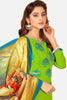 Embroidered Straight Cut Suit With Digital Print Dupatta:atisundar radiant Green Designer Straight Cut Embroidered Suits - 15079 - click to zoom
