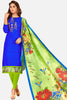 Embroidered Straight Cut Suit With Digital Print Dupatta:atisundar enticing Blue Designer Straight Cut Embroidered Suits - 15085 - click to zoom