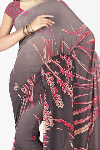 Designer Saree:atisundar pretty Designer Saree in Faux Georgette in Grey  - 11656 - atisundar - 2