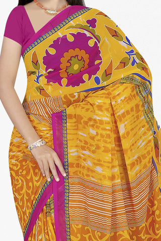 Designer Saree:atisundar excellent Designer Saree in Faux Georgette in Yellow  - 11659 - atisundar - 2