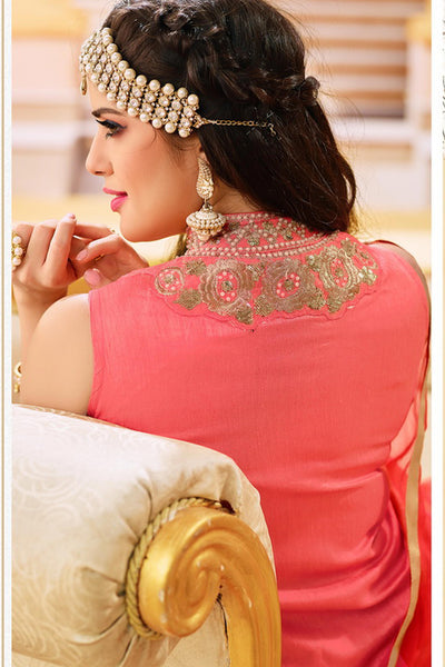 Designer Lehenga:atisundar Alluring Banglori Silk Designer Party Wear Lehenga in Pink And Cream - 12350 - atisundar - 7 - click to zoom