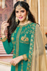 Designer Straight Cut:atisundar resplendent Sea Green Designer Embroidered Straight Cut - 12347 - atisundar - 4 - click to zoom