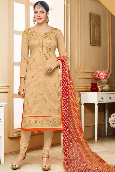 Designer Straight Cut:atisundar gorgeous Cream Designer Embroidered Straight Cut - 12348 - atisundar - 3 - click to zoom
