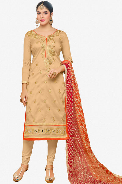 Designer Straight Cut:atisundar gorgeous Cream Designer Embroidered Straight Cut - 12348 - atisundar - 1 - click to zoom