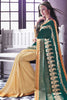 Designer Saree:atisundar Great Party wear Sarees with designer blouses and embroidered border in Dark Green And Cream  - 10758 - atisundar - 4 - click to zoom