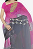 Designer Saree:atisundar superb Designer Saree in Faux Georgette in Pink And Grey  - 11667 - atisundar - 2 - click to zoom