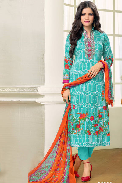 Designer Straight Cut:atisundar bewitching Blue Designer Party Wear Straight Cut - 12987 - click to zoom