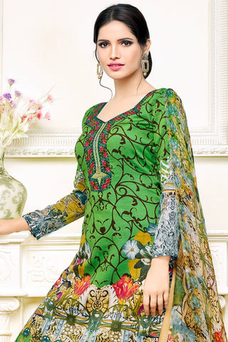 Designer Straight Cut:atisundar Charismatic Green Designer Party Wear Straight Cut - 12997