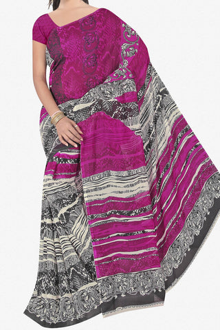 Designer Saree:atisundar appealing Designer Saree in Faux Georgette in Purple And Grey  - 11677 - atisundar - 1 - click to zoom