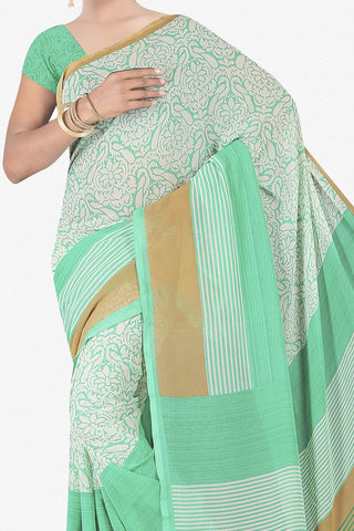 Designer Saree:atisundar wonderful Designer Saree in Faux Georgette in Sea Green  - 11679 - atisundar - 2