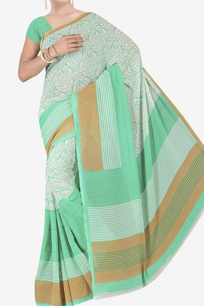 Designer Saree:atisundar wonderful Designer Saree in Faux Georgette in Sea Green  - 11679 - atisundar - 1 - click to zoom