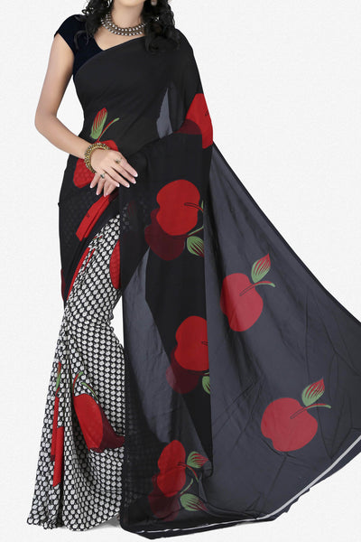 Designer Saree:atisundar dazzling Designer Saree in Faux Georgette in Black  - 11680 - atisundar - 1 - click to zoom