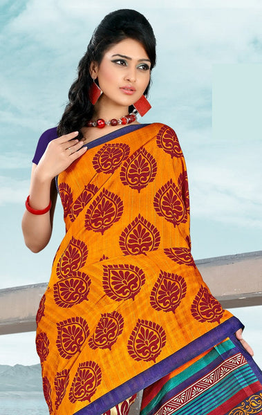 atisundar Stunning Orange Colored Saree - atisundar - 4 - click to zoom