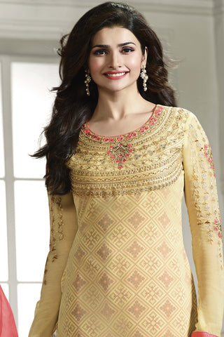 The Prachi Desai Collection:atisundar wonderful Yellow Designer Embroidered Partywear Suits in Straight Cut - 10496 - atisundar - 4 - click to zoom