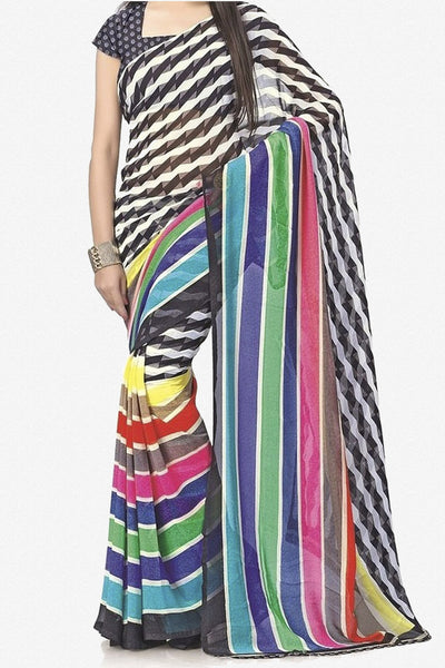 Designer Bhagalpuri Saree:atisundar Superb Designer Printed Saree in Faux Bhagalpuri Silk in Multi  - 11110 - atisundar - 1 - click to zoom