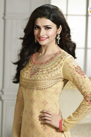 The Prachi Desai Collection:atisundar wonderful Yellow Designer Embroidered Partywear Suits in Straight Cut - 10496 - atisundar - 6
