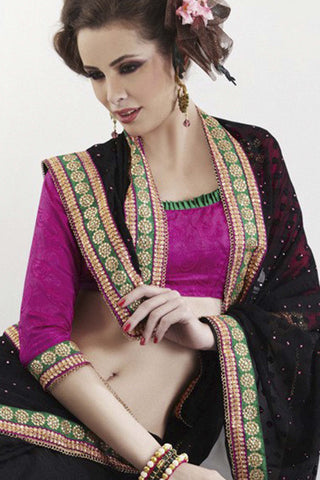 Rajguru Radiance:atisundar   refined Designer Embroidery Saree in Black  - 5385 - atisundar - 2