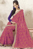 Delicate Chiffon Saree In Red - atisundar - 1 - click to zoom