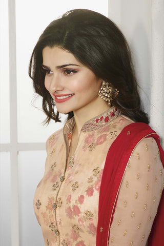 The Prachi Desai Collection:atisundar ravishing Beige Designer Embroidered Partywear Suits in Straight Cut - 10494 - atisundar - 8