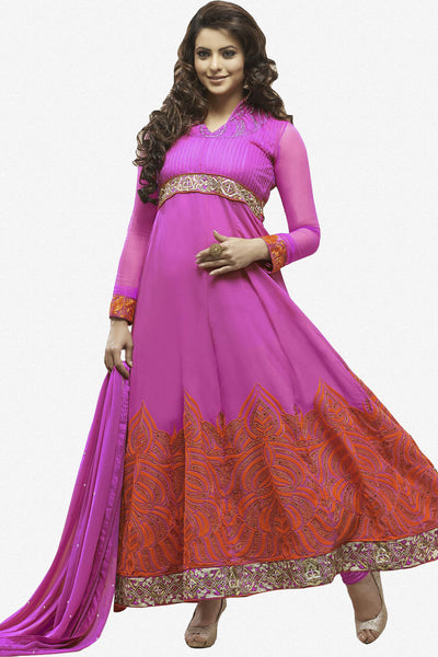 Heeba Party Wear Anarkali Featuring Aamna Sharif:atisundar ravishing   in Pink - 5109 - atisundar - 1 - click to zoom