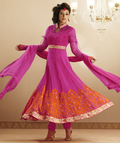 Heeba Party Wear Anarkali Featuring Aamna Sharif:atisundar ravishing   in Pink - 5109 - atisundar - 2 - click to zoom
